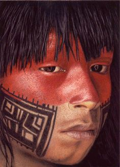 Kayapo The Kayapo (Portuguese: Caiapó ) indigenous peoples in Brazil, We Are The World, People Around The World, Xingu, Tribal People, Native Indian, Indian Boy, World Cultures, Face And Body, Body Painting
