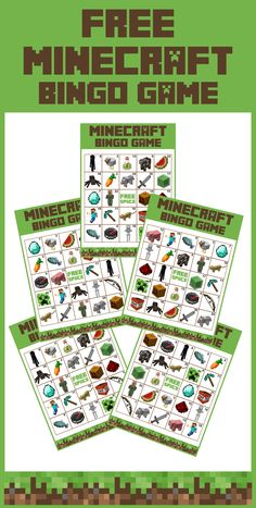 Minecraft ideas party and other: Get a free printable Minecraft bingo game for a fun activity to play at your Minecraft parties for both boy and girl birthdays! Minecraft Diy, Minecraft Party Games, Minecraft Birthday Party, Birthday Party Games, Birthday Fun, Minecraft Activities, Free Minecraft Printables, Minecraft Party Decorations, Ideas Para Fiestas