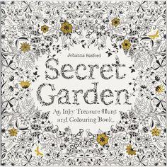 Kleurboek, afm 25x25 cm, 96 pagina´s, Secret Garden, 1stuk