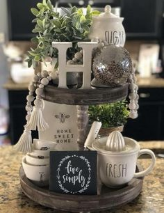 67 Nice ideas for spring table decor . - Nice ideas for spring table decorations 37 – # - Decoration Bedroom, Decoration Table, Kitchen Table Decorations, Farm Table Decor, Table Centerpieces For Home, Coffee Table Tray Decor, Kitchen Centerpiece, Coffee Tray, Dining Room Table Decor