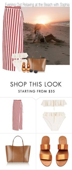 """Evening Out Relaxing at the Beach with Sophia"" by elise-22 ❤ liked on Polyvore featuring Balenciaga, Maryam Nassir Zadeh, Dolce&Gabbana, beach, relax, evening and sophiasmith"