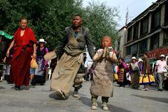 Pilgerreisen sind für die tibetische Buddhisten ein wichtiger Bestandteil Ihres Lebens.