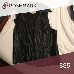 Faux Leather vest Thread & Supply black faux leather vest. Worn once! Price negotiable! Jackets & Coats Vests