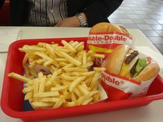 "Inn n Out ""Animal style"" Double double Cheese Burgers"