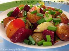 Pečené baby zemiačky a cvikla