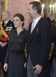 Los Reyes se presentan al cuerpo diplomático acreditado en España