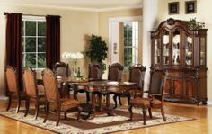 Acme 60030 Remington Dining Table, Brown Cherry Finish by ACME. $992.75. Available in brown cherry finish. Table measures 80-inch length by 44-inch width. This remington collection dining table is perfect for your home and great addition to any dining room. Includes 2-inch by 16-inch leaves. This product measures 280-pound; made in vietnam. This Remington collection dining table is perfect for your home and great addition to any dining room. Includes 2-inch by 16-inch leaves. T...