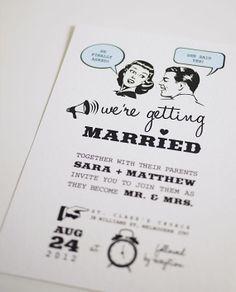 1950's Retro - Wedding Invitation | ThreeEggsDesign etsy.com $35.00 USD