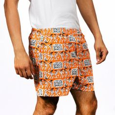 DISCO DANCER MEN ORANGE BOXER SHORTS