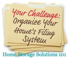 Week #13 Organized Home Challenge: Organize Your Home's Filing System