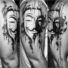 Matrix Anonymous by @sassentattoo . Session 1. @mocambotattooshop #mocambotattooshop #blackandwhite #blackwork #iblackwork #darkness #darktattoo #v #anonymous #matrix #sketch #trashpolka #tatouage #tattoo2me #thebesttattooartists #inked #inkedmag #skinartmag #tattoodesign #tattoobrasil #maletattoo #tattooed #tattoo #brztattoo #tguest
