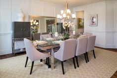 Whittington - Classic #chandelier #dining #modelhome
