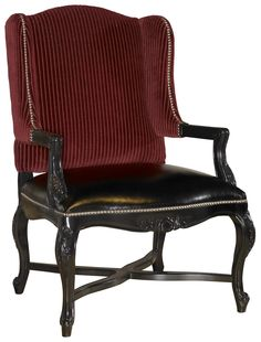 Barclay Square Kendal Wing Back Chair with Exposed Wood and Nailhead Trim by Lexington Home Brands - Riverview Galleries - Wing Chair Furniture Store NC by Riverview Galleries located in Durham North Carolina has the area's best Selection of Furniture Online