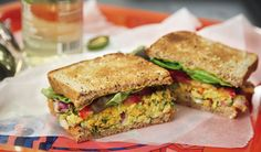 Smoked Almond & Chickpea Salad Sammies #vegan