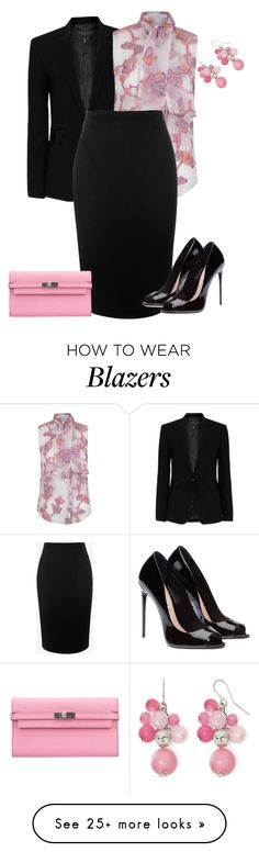 """outfit 3672"" by natalyag on Polyvore featuring rag & bone, The 2nd Skin Co., Alexander McQueen, Hermès and Mixit"