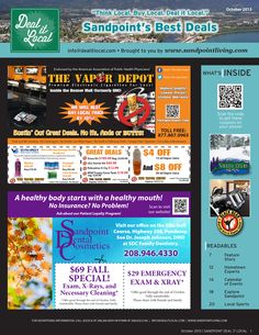 October 2013 Sandpoint Deal It Local Magazine | Sandpoint, Idaho | www.sandpointliving.com