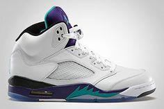$119.99 Air Jordan V Grape White/New Emerald-Grape-Ice Blue 136027-108 http://www.newjordanstores.com/