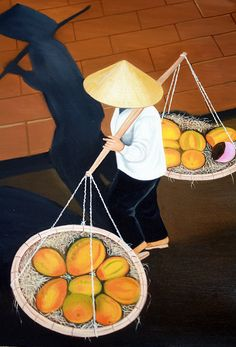 Vietnamese Painting..love the shadow reflection the artist painted! by Vibrant One, via Flickr