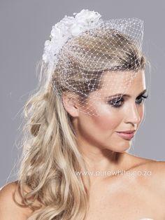 Vintage-Style Birdcage Veil 13-021 - Pure White Bridal