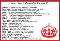 Keep Calm & Carry On Survival Kit In A Can. Humorous Novelty Fun Gift - Present & Card All In One. Birthday/Christmas/Retirement/Boss/Work Colleague/Good Luck/Leaving/Mum To Be/Dad To Be/New Baby/New Parents/Father's Day/Mother's Day/Valentine's Day/Graduation/New Home/Engagement/Wedding/New Job/Best Man/Bridesmaid/Anniversary.:Amazon.co.uk:Kitchen & Home