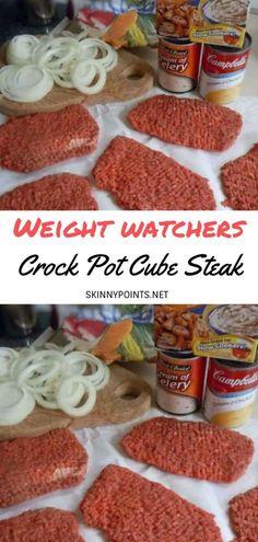 Crock Pot Cube Steak - #weightwatchers #weight_watchers #Healthy #CrockPot #Steak #skinny_food #Cube #recipes #smartpoints