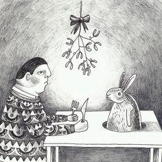 Christmastcard illustrated by @hetparadijs; seen on HappyMakersBlog.com