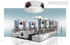 Rocky Mountain Bicycles - Custom Trade Show Exhibit - Check EXHIBITMAX Trade Show Rental, if your needs require a custom designed Trade Show Booth Design, Rocky Mountains, Custom Design, Exhibit, Bicycles, Mountain Biking, Home Decor, Bike, Check