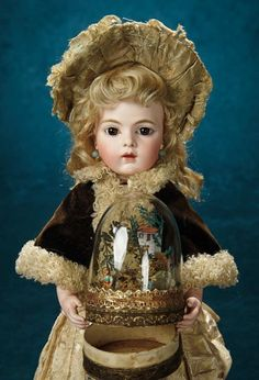 Forever Young - Marquis Antique Doll Auction: 9 Beautiful French Bisque Bebe by Leon Casimir Bru, Size 3 with Signed Bru Shoes