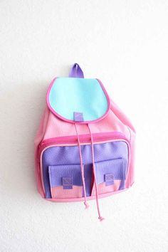 Backpacks from the 90's...It's a pastel paradise!