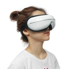 eye temple massager with air heat compression music at Banggood