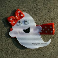 Ghost Ribbon Sculpture Hair Clip or Pin