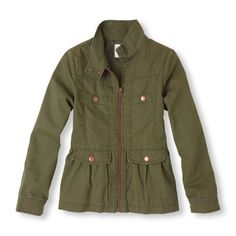 Girls military jacket, $34.95, Children's Place. Part of the Complete Back to School Wardrobe for Girls.  beautymommy.com #backtoschooloutfit #backtoschoolshopping