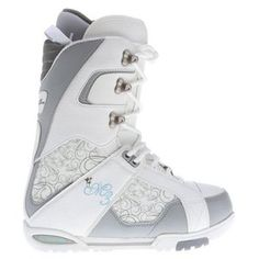 M3 Venus Snowboard Boots White/Grey Women's - These snowboarding boots from M3 offer style, comfort and performance. These white boots have a great stiff fit and padded design