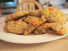 Vanilla Reese's Pieces Cookies