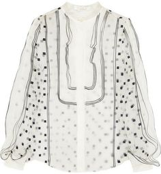 Chloé Embroidered organza blouse on shopstyle.com