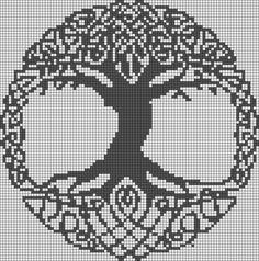 celtic tree of life cross stitch pattern