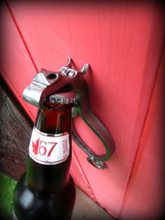 WALL MOUNT Bottle Opener Dragon Sculpture Hand Forged and Signed by Blacksmith Naz.  $58