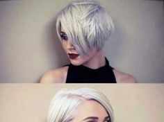 Really Cool Pictures of Short Hair with Long Bangs