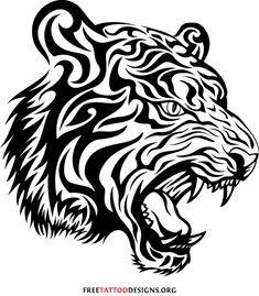 Племінний Тигр татуювання