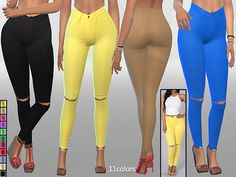 Summer Jeans by Pinkzombiecupcakes at TSR via Sims 4 Updates