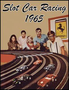 Slot Car Racing in 1965.  Courtesy of mygenerationshop.com