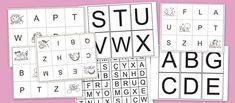 Juego infanti para trabajar el abecedario. Bingo de letras para que los niños las aprendan jugando Spanish Activities, Teaching Activities, Alphabet Bingo, Dual Language, Homeschool, Learning, Alphabet, School, Language