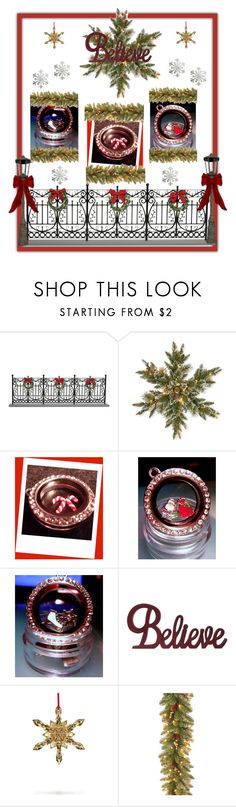 """""""Christmas Gift Ideas"""" by cozeequilts ❤ liked on Polyvore featuring Byers' Choice, National Tree Company and Pottery Barn"""