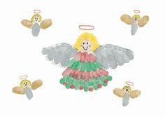 angel thumbprint art