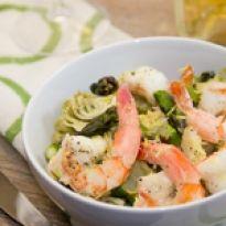 Υπέροχη νηστίσιμη συνταγή αγκινάρες με γαρίδες με ελάχιστες θερμίδες και με υψηλή διατροφική αξία. Shrimp, Meat, Food, Essen, Yemek, Meals