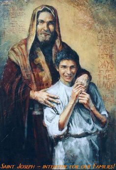 This is a great picture of St Joseph and Jesus.