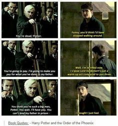 I love sarcastic Harry. I wish they did more of that in the movies :)