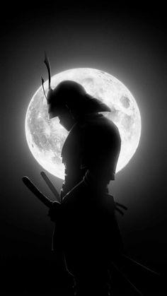Super Moon Samurai Warrior - IPhone Wallpapers