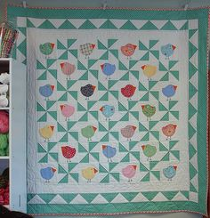 """""""Chubby Chicks"""" by Black Mountain Quilts"""
