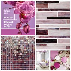 Pantone's 2014 Color of the Year- Radiant Orchid. Daltile